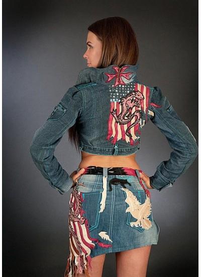 """Клубный костюм """"Dragon' (куртка и юбка)"""