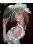 Платье свадебное 'Modern bride' + шляпка + перчатки