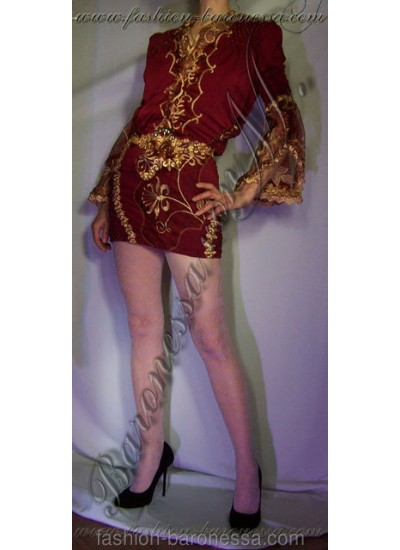 Коктейльное платье 'Burgundy'