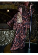 Женский брючный костюм 'Night jungle' (брюки и пиджак)