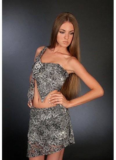 Летний женский костюм «Grey» (юбка и топ)