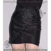 """Кожаная юбка """"Black monogram"""""""