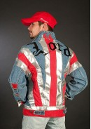 Куртка джинсовая мужская «Union Jake in fire»