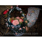 Корзина роз - дизайн интерьера