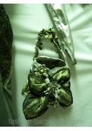 Сумочка-радикюль и длинные перчатки к вечернему платью