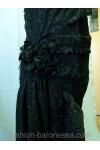 """Вечернее платье в стиле 30-х """"Черное кружево"""""""