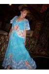 "Длинное платье-сарафан ""Roses in the blue sky"""
