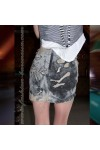 Юбка короткая облегающая «50 shades of grey»