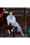 Джинсы-трансформеры женские «Blurred blue»