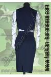 Женский костюм – двойка (жилет + юбка) «Blue depth»