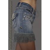 Юбка-мини джинсовая с бахромой «Rivets»