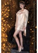Удлиненный женский пиджак «Tea rose color»